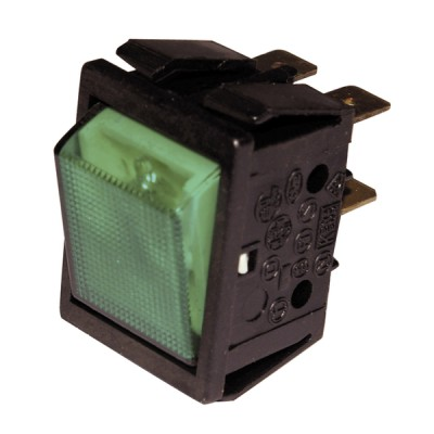 Schalter Modell für ZH grün dicht  - ZAEGEL HELD: A814342