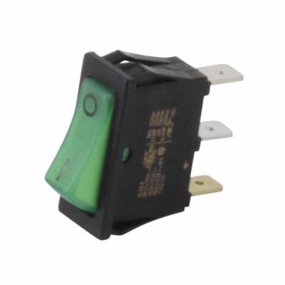 Interrupteur unipolaire noir/lumineux vert - DIFF pour Bosch : 87168121620