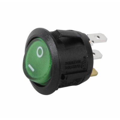 Interrupteur unipolaire Ø23 lumineux vert - DIFF pour Bosch : 87168249040