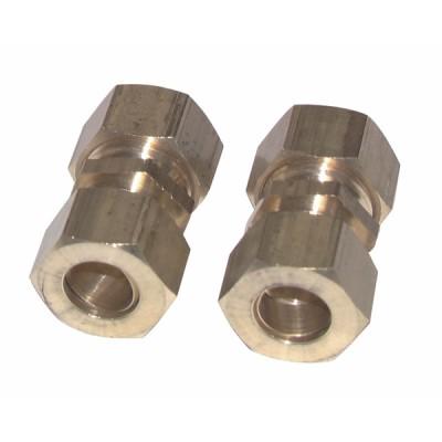 Racor de oliva recto tubo 14mm x tubo 14mm  (X 2) - DIFF