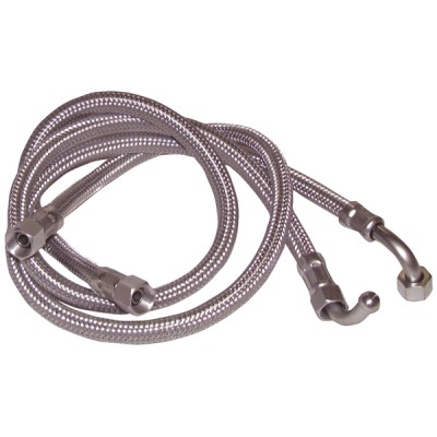"Hose fuel f3/8"" x f14/150 bent 90° length 750mm  (X 2) - DIFF"