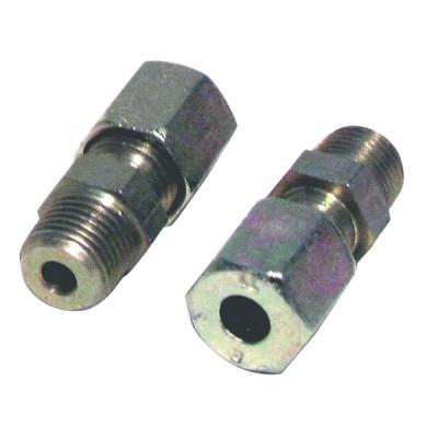 Racor de compresión recto M1/4 x tubo 8mm  (X 2)