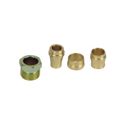 Brass connector , simple 8-10-12 20412 - AFRISO : 20412