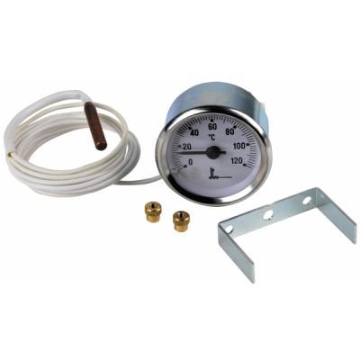 Termómetro redondo 0° a 120°C Ø56mm
