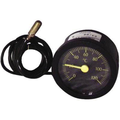 Thermomètre rond 0° à 120°C Ø58mm