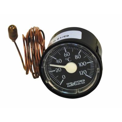 Thermomètre rond 0° à 120°C Ø43mm  - DIFF