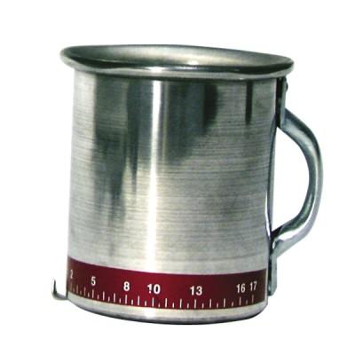 Tasse aluminium mesure de débit
