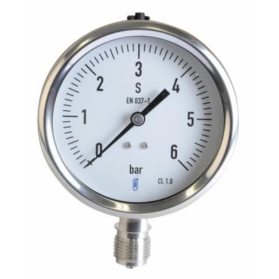 Manometro vapore 0-6 bar Ø 100mm