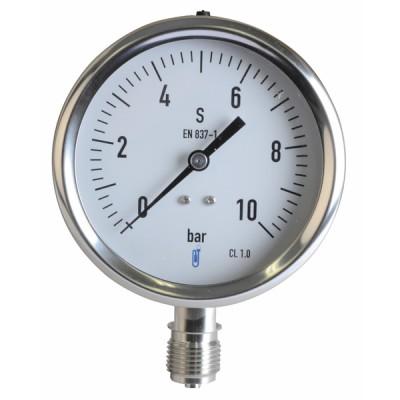 Dampf Druckmesser  0/10 bar Durchmesser 100mm  - DIFF