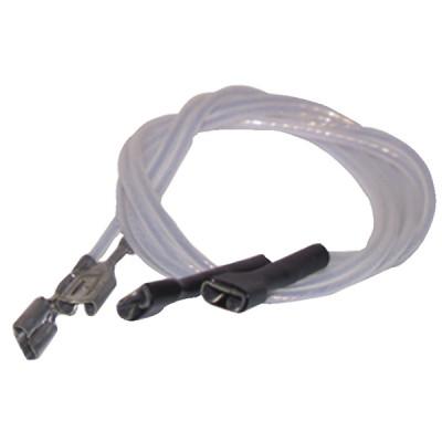 Ptfe hv lead ø2.5mm faston terminals 2,8  (X 2) - DIFF : 802222