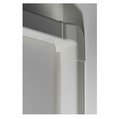 Angle vertical droit 60 x 80 blanc crème 9001 - DIFF