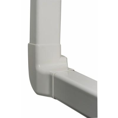 Angolo verticale sinistro 80x60 bianco crema 9001