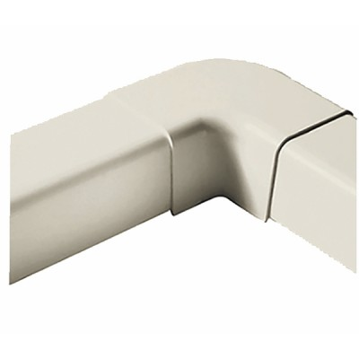 Plane curve for cable duct 140x90 cream-coloured 9001 - DIFF