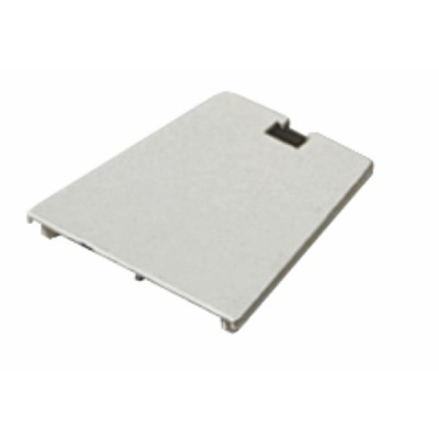 Embout support 80x80 blanc crème