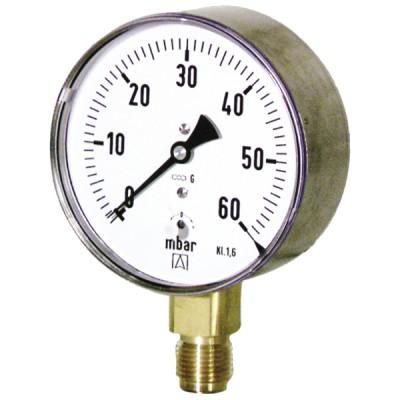 Manómetro de inspector de 0 a 60 mbar