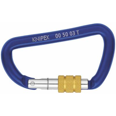 Lot de mousquetons à vis (X 2) - KNIPEX - WERK : 00 50 03 T BK