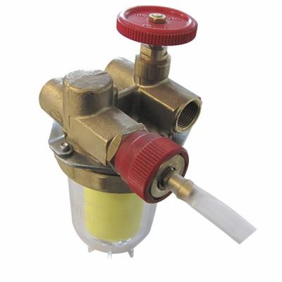 Filtro gasóleo reciclaje con válvula de corte HH3/8'' - OVENTROP : 2122261+2127600