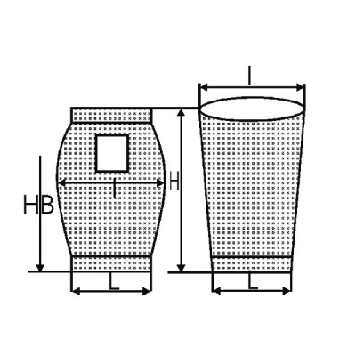 Saugersack H 570  (X 10) - DIFF
