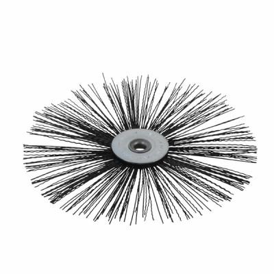 Nylon flat roller brush Ø 70mm for high temperature  - DIFF