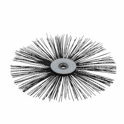 Nylon flat roller brush  Ø 130mm for high temperature - DIFF