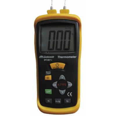 Thermomètre différentiel avec 2 sondes - GALAXAIR : DT-307+