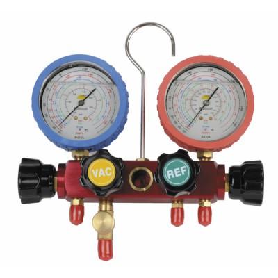 4-Wege-Verteilerstück mit Kolben und Manometer  - GALAXAIR: M804-BH-SA636-BCLIM