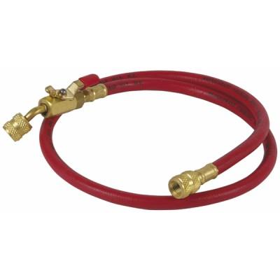 """Flexible rouge longueur 0,90m Ø1/4"""""""