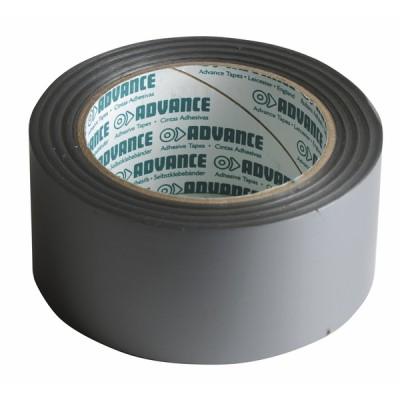 Rouleau PVC adhésif argent (50mm x 33m) - DIFF