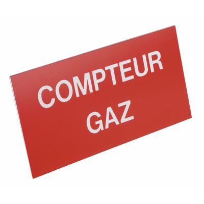 Etichetta polistirene rigida Contatore gas - DIFF : 907274