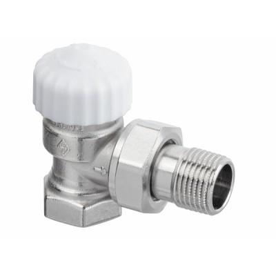 Standard thermostatic radiator valve body Calypso Exact angle DN10 3/8 - IMI HYDRONIC : 3451-01.000