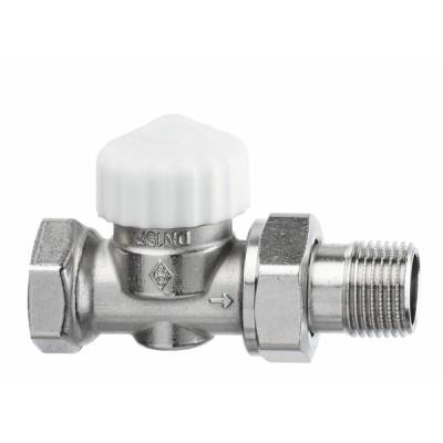 Standard thermostatic radiator valve body Calypso Exact straight DN10 3/8 - IMI HYDRONIC : 3452-01.000