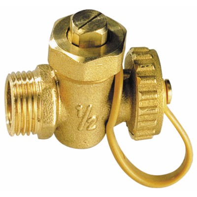 Drain cock ball valve MM with plug 3/8 - DIFF