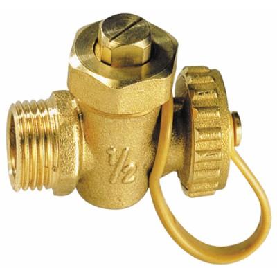 Drain cock ball valve MM with plug 3/8