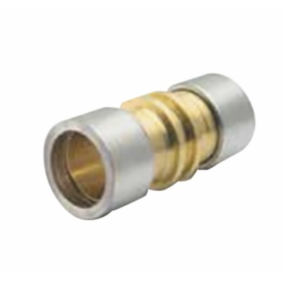 """Raccord droit en laiton Ø9.53mm (3/8"""")  (X 10) - VULKAN LOKRING : 9,53 NK Ms 50-B10"""