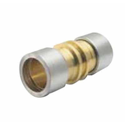 Straight brass connector. LOKRING 9,53 NK Ms 50 (X 10) - VULKAN LOKRING : 9,53 NK Ms 50-B10