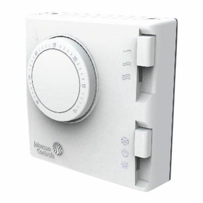 Thermostat ambiance 2 tubes 3 vitesses été/hiver T125 - JOHNSON CONTR.E : T125BAC-JS0-E