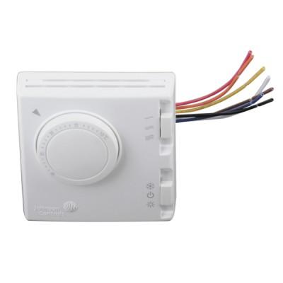 Thermostat ambiance 4 tubes 3 vitesses été/hiver T125 - JOHNSON CONTR.E : T125FAC-JS0-E