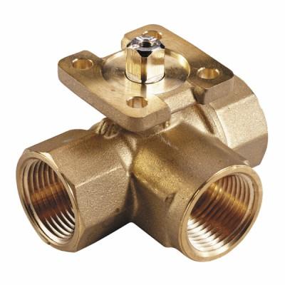 Threaded 3-way ball valve PN40 - JOHNSON CONTR.E : VG1805AL