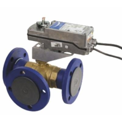 Flanged 3-way ball valve PN16 - JOHNSON CONTR.E : VG18E5GU