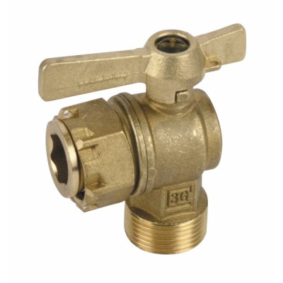 """Water meter isolation ball valve angled MF 3/4"""" - DIFF"""