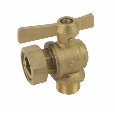 """Water meter isolation ball valve angled MF 1/2"""" 3/4"""" - DIFF"""