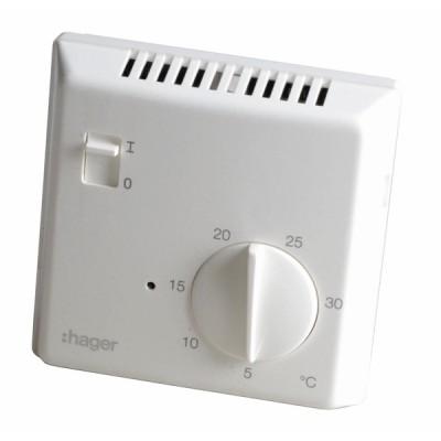 Einfacher elektronischer Thermostat HAGER elektronisch 25513 - HAGER: 25513