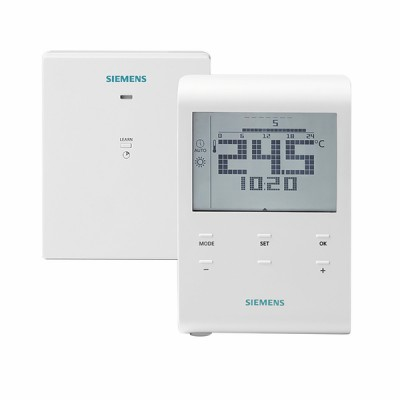 Thermostat ambiance radio à piles - SIEMENS : RDE100.1RFS