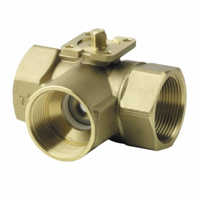 3-port ball valve, internal thread, PN40, DN32, kvs 16 - SIEMENS : VBI61.32-16