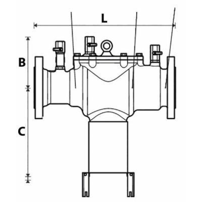 Disconnecteur contrôlable à brides BA300 DN200 - HONEYWELL : BA300-200A