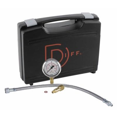 Koffer Öldruck Druckmesser Heizöl 40bar  - DIFF
