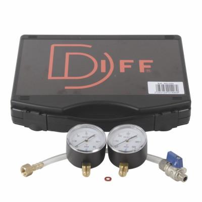 Koffer Gasdruck Druckmesser Gas 60/600 mbar  - DIFF