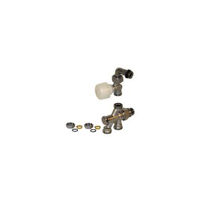 "4 ways valve R436/2TG 1/2"" x 16 - GIACOMINI : R436IX052"