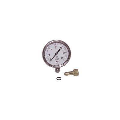 """Manometer 0 60 mbars ø63mm m1/4""""no protection"""