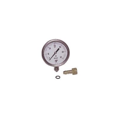 """Runder Druckmesser 0 bis 60 mbar Durchmesser 63mm M1/4"""" ohne Hülle"""
